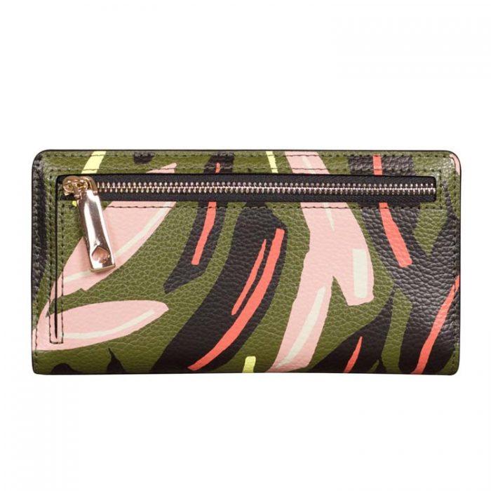 Kate Spade Large Eva Modern Feather Slim Bifold Wallet