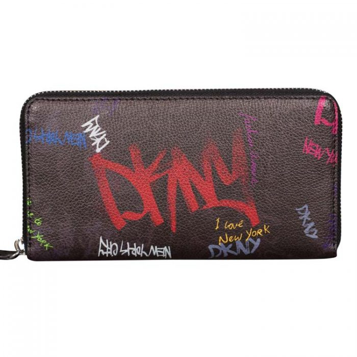 DKNY Large Vela NYC Graffiti Print Wallet