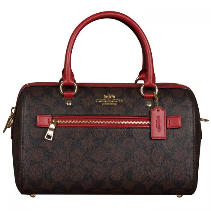 Coach Signature Rowan Satchel in Brown 1941 Red