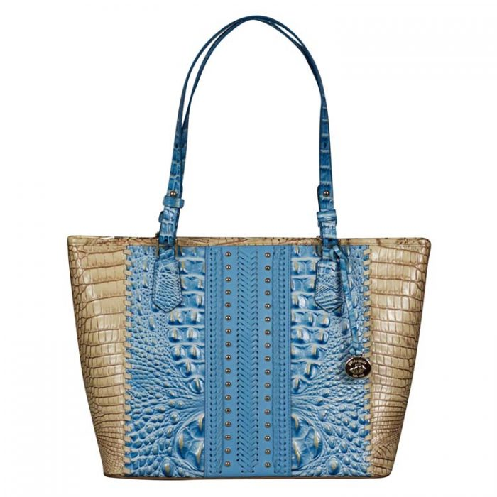 Brahmin Medium Asher Tote in Cerulean Connery