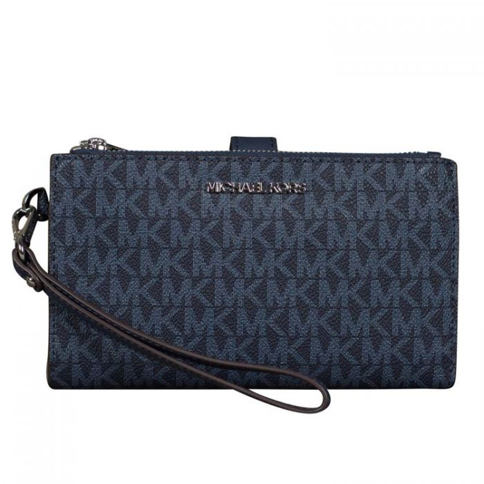 Michael Kors Double Zip Wristlet in Admiral