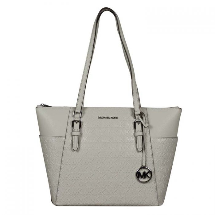 Michael Kors Large Charlotte Top Zip Tote in Aluminum