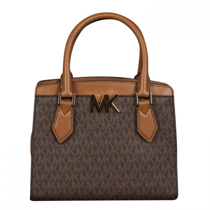 Michael Kors Medium Mott Messenger in Brown