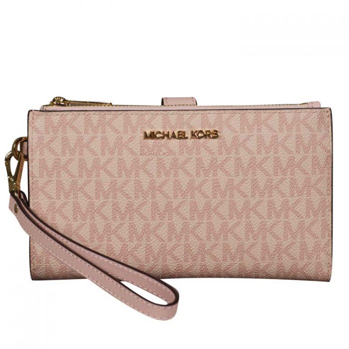 Michael Kors Double Zip Wristlet in Ballet