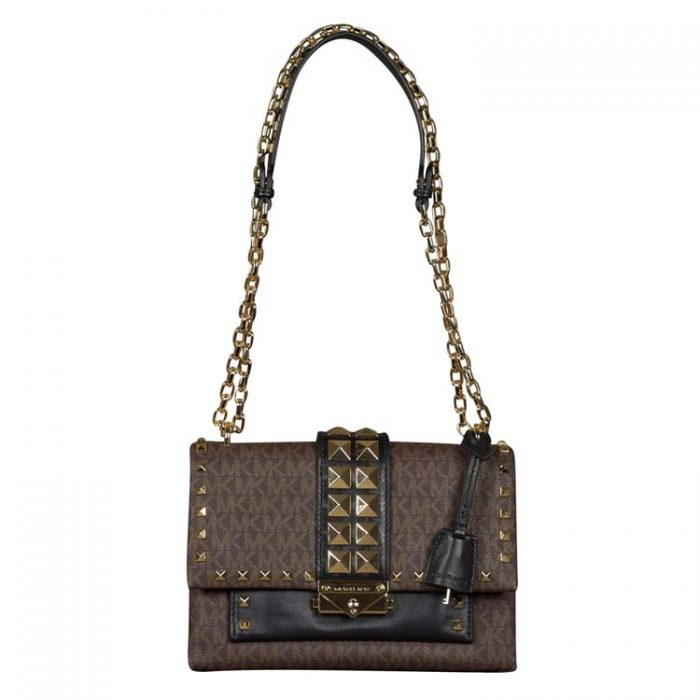 Michael Kors Medium Cece Shoulder Bag in Brown Black