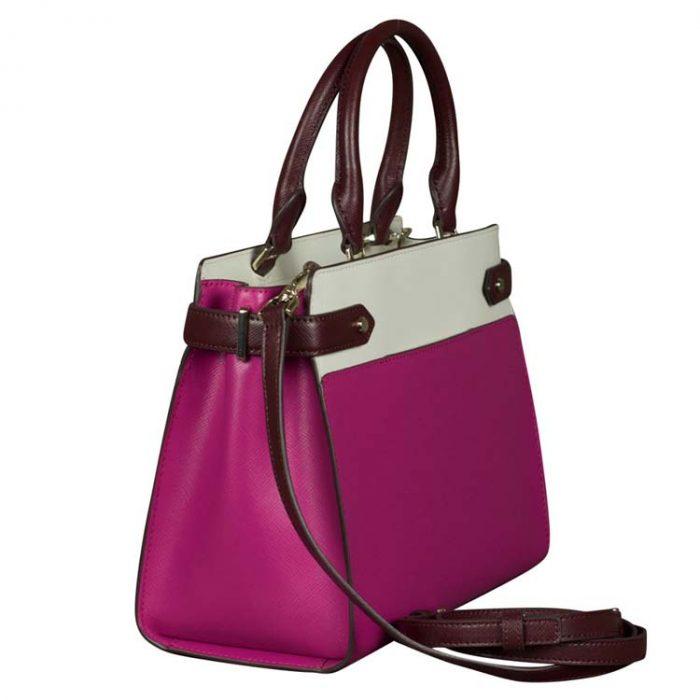 Kate Spade Medium Staci Colorblock Satchel in Pink