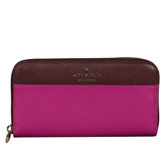 Kate Spade Large Staci Continental Wallet in Pink Multi