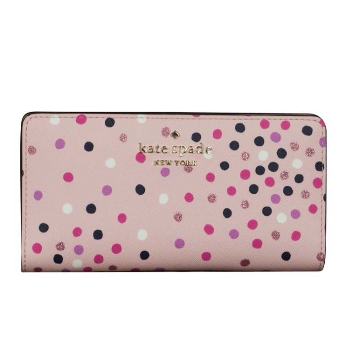 Kate Spade Large Staci Festive Confetti Slim Bifold Wallet