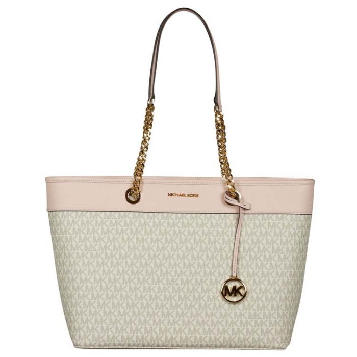 Michael Kors Large Shania EW Chain Tote in Powder Blush