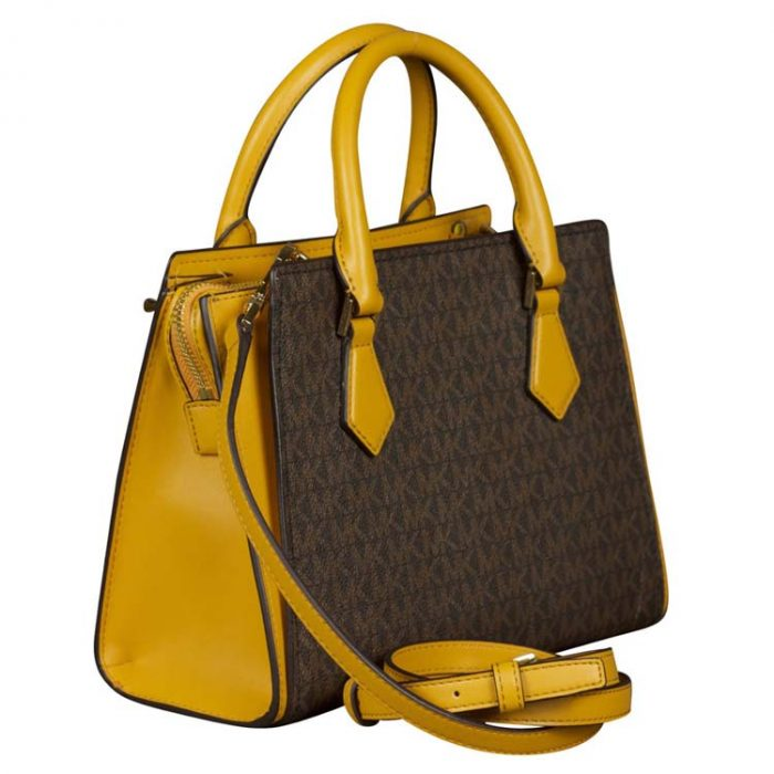 Michael Kors Medium Hope Messenger in Marigold