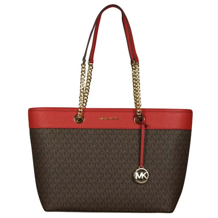 Michael Kors Large Shania EW Chain Tote in Flame