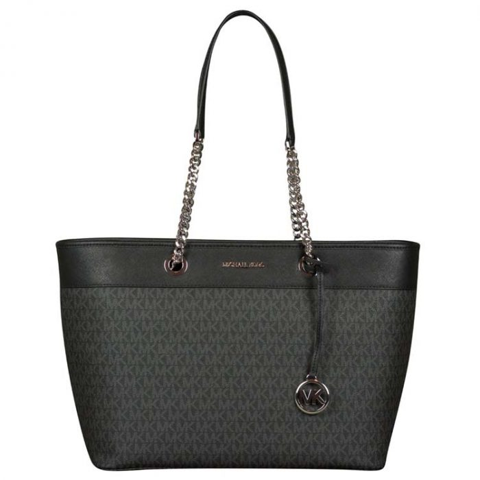 Michael Kors Large Shania EW Chain Tote in Black