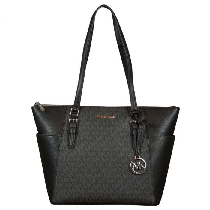 Michael Kors Large Charlotte Top Zip Tote in Black