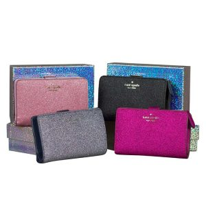Kate Spade Lola Glitter Wallets for sale at Luxe Purses