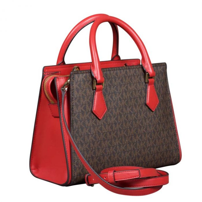 Michael Kors Medium Hope Messenger in Flame