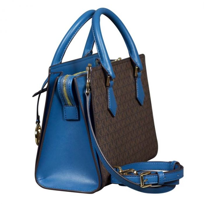 Michael Kors Medium Hope Messenger in Dark Chambray