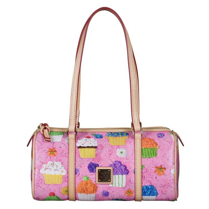 Dooney and Bourke Cupcake Barrel Bag in Pink