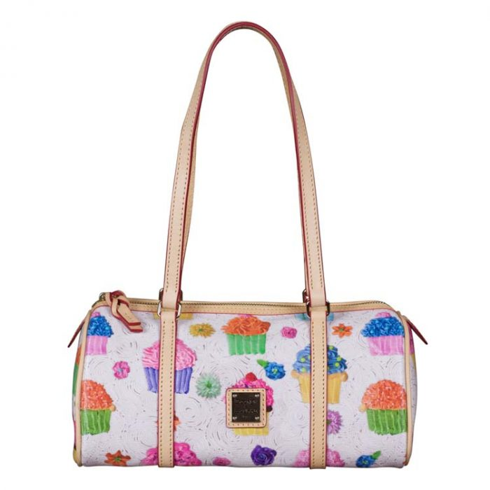 Dooney and Bourke Cupcake Barrel Bag in White