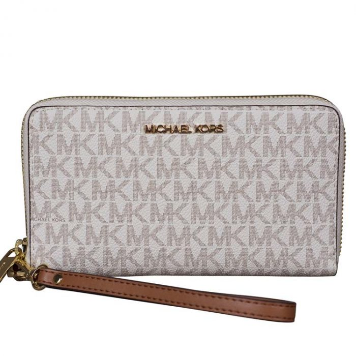 Michael Kors Medium Travel Phone Holder in Vanilla