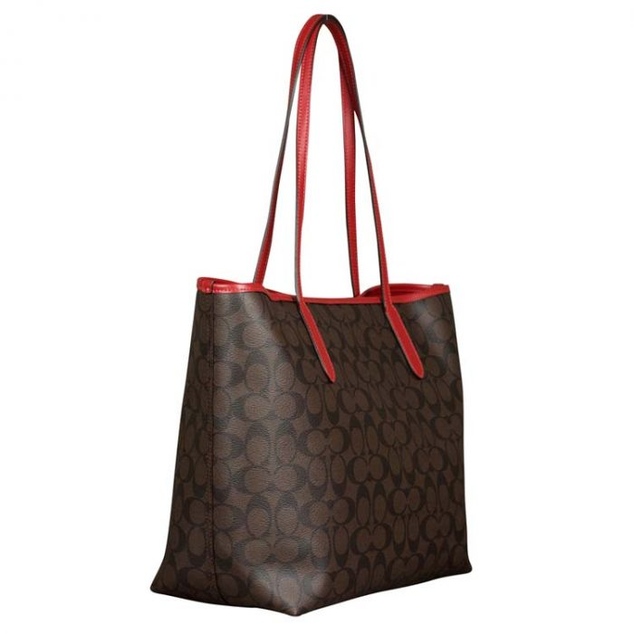 Coach Signature City Tote in Brown 1941 Red
