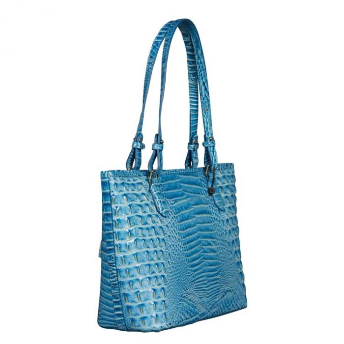 Brahmin Medium Asher Tote in Cerulean Melbourne