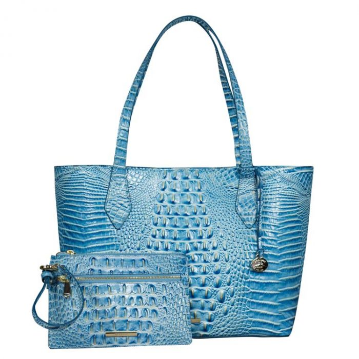Brahmin Athena Tote and Wristlet in Cerulean Melbourne