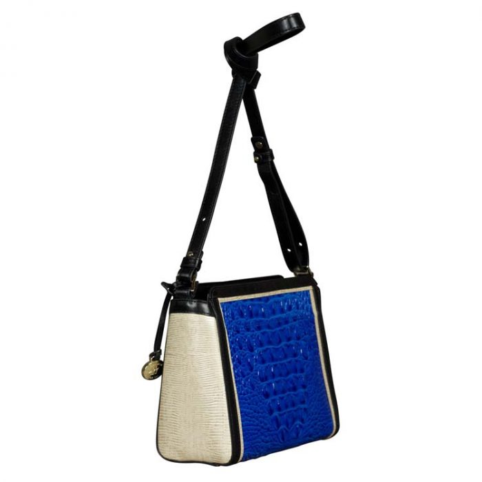 Brahmin Carrie Crossbody Bag in Cobalt Laverne