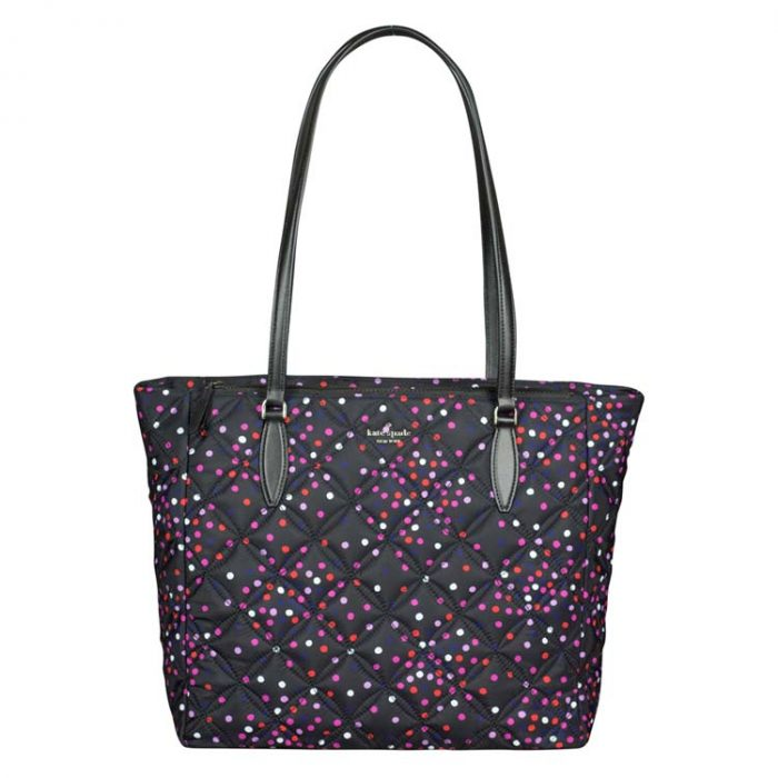 Kate Spade Large Jae Festive Confetti Quilted Tote