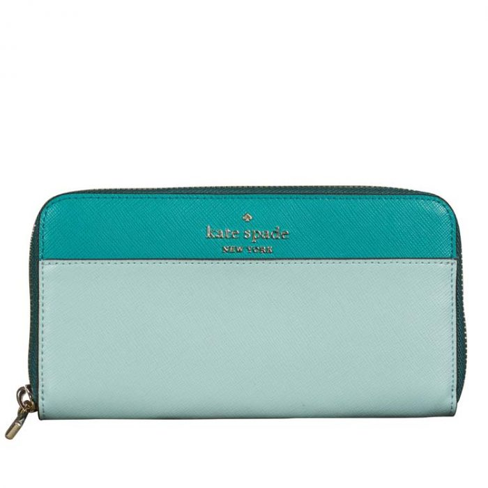Kate Spade Large Staci Continental Wallet in Frosted Spearmint