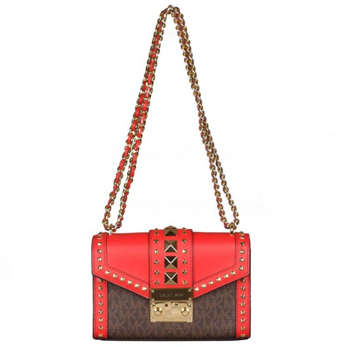 Michael Kors Small Rose Crossbody Bag in Dark Sangria