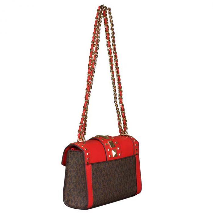 Michael Kors Small Rose Crossbody Bag in Dark Sangria