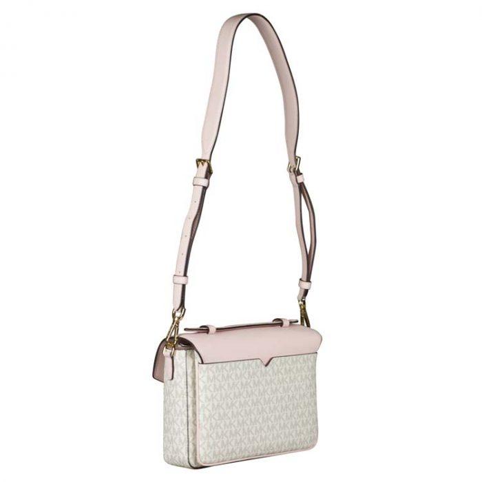 Michael Kors Medium Rose Messenger Bag in Powder Blush Multi