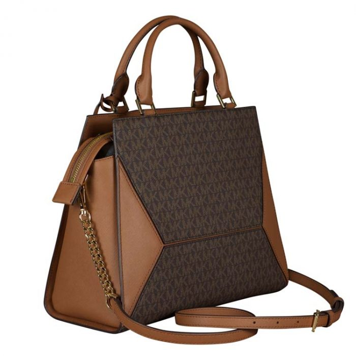 Michael Kors Large Prism Satchel in Brown