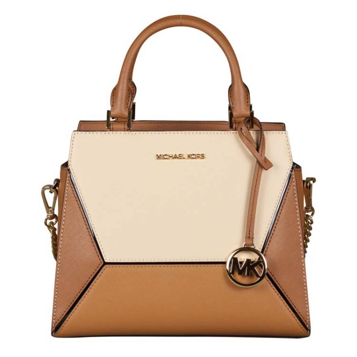 Michael Kors Medium Prism Satchel in Luggage Multi