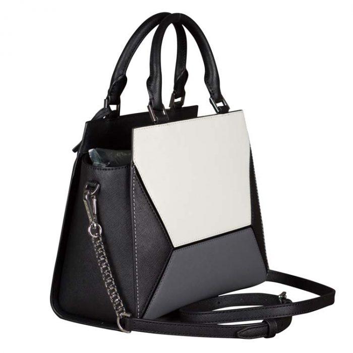 Michael Kors Medium Prism Messenger Bag in Black Multi