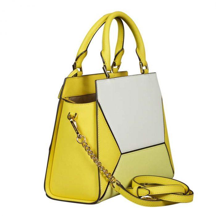 Michael Kors Medium Prism Messenger Bag in Daisy Yellow
