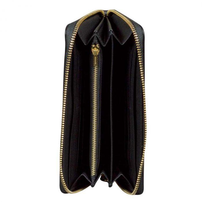 Coach Signature Long Wallet Wristlet in Brown Black