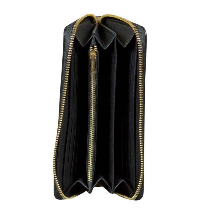 Coach Signature Long Wallet Wristlet in Khaki Black