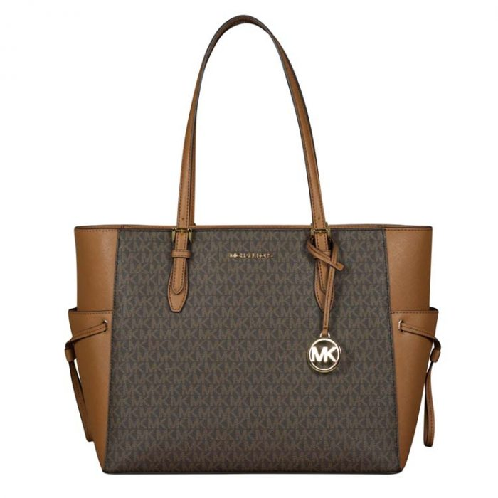 Michael Kors Large Drawstring Gilly Travel Tote in Brown